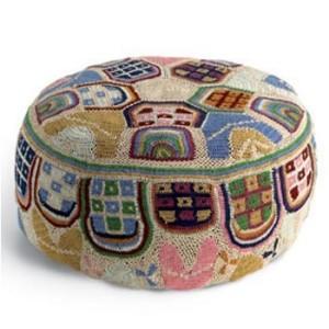 Missoni Crochet Pouf