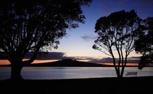 Sunrise over Rangitoto Island