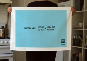 Modern Art Tea Towel