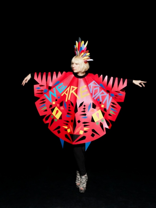 Image of Sia in Benja Harney Cape for Album Cover