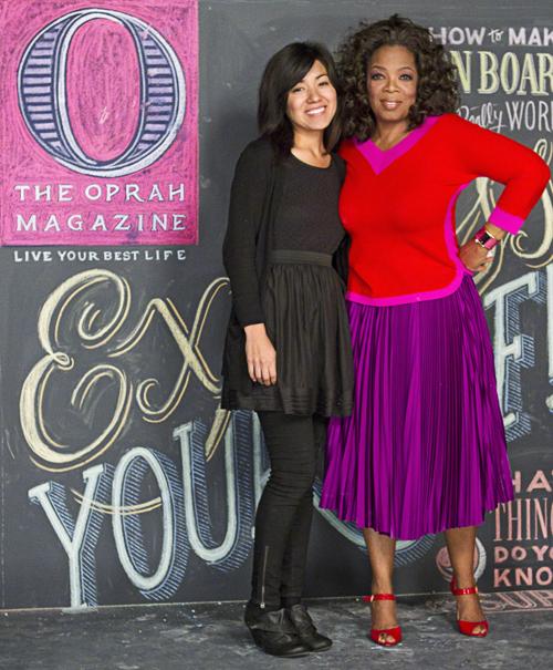 Dana Tanamachi with Oprah