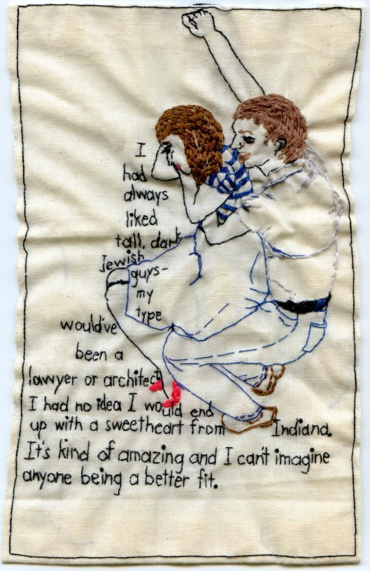 Iviva Olenick's embroidered Williamsburg Hug