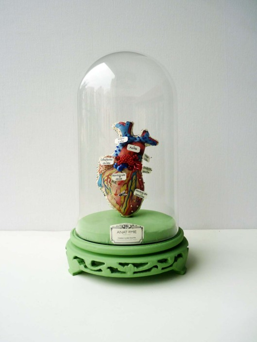 Image of Lyndie Dourthe Heart under glass