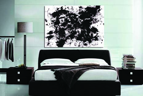 Life is Art Black Painting with Mint Pic