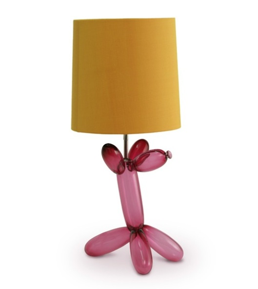 Image of Porta Romana Balloon Dog Lamp in fuscia