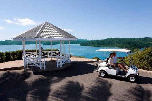 Image of golf buggy on Hamilton Island