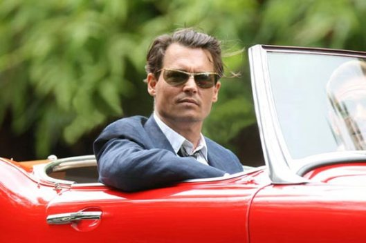The Rum Diary Johnny Depp in Red Convertible