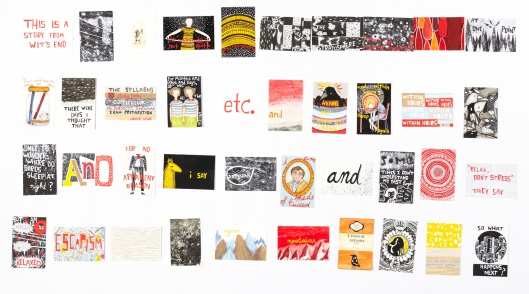 Image of part of ArtExpress artistLisa Koesterke 'A Collection of Post Cards from Wits End'