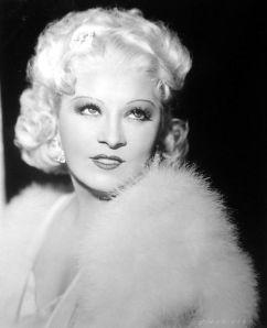 Image of Mae West circa 1936