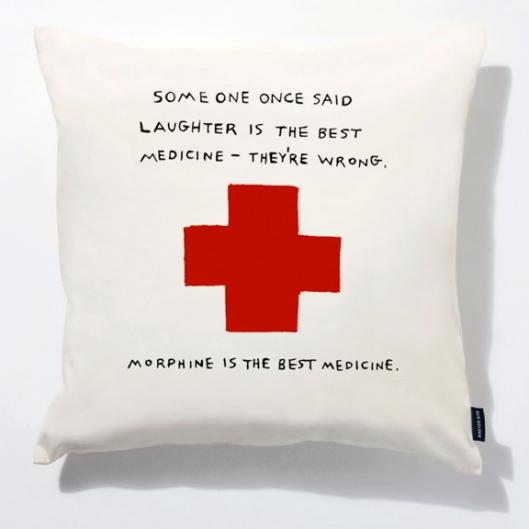 Image of Dan Golden's Morphine is the Best Medicine' pillow
