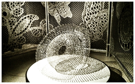 Image of Tania Spencer 'Intersect' and Joep Verhoeven 'Lace Fence'