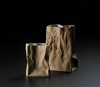 Image of 2 Rosenthal Paper Bag Vases