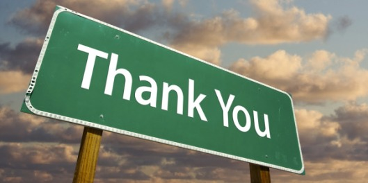 100 Thank you sign photograph