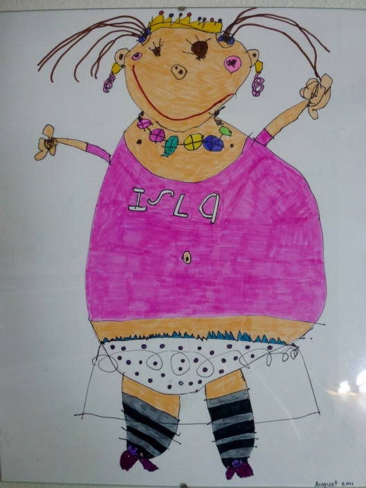 Image of doll drawn by Isla