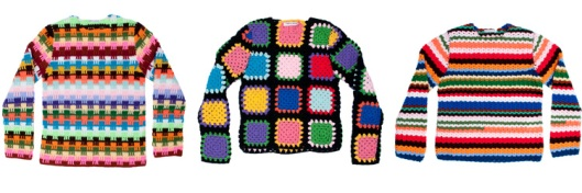 Image of Comme des Garcons crochet needle jumpers