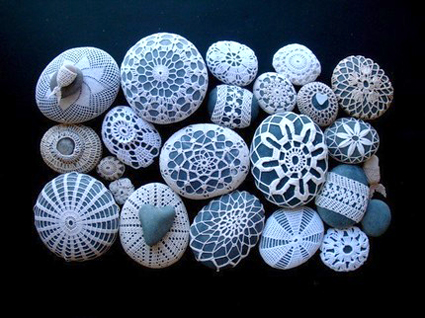 Little Urchin Covered Sea Stones by Margaret Oomen