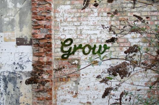 'Grow' - Green Graffiti by Anna Garforth