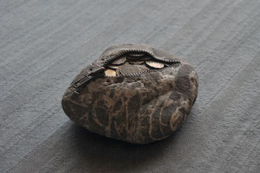 Stone Coin Purse by Hirotoshi Ito
