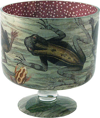 Image of John Derian's Cache Pot 'Frogs'