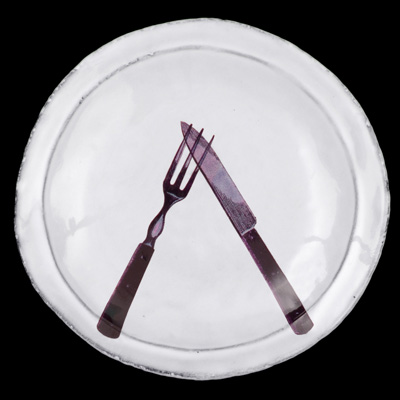 Image of John Derian's Knife & Fork Saucer for Astier de Villatte