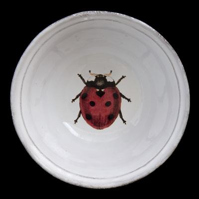 Image of John Derian 'Ladybird' Soup Plate for Astier de Villatte