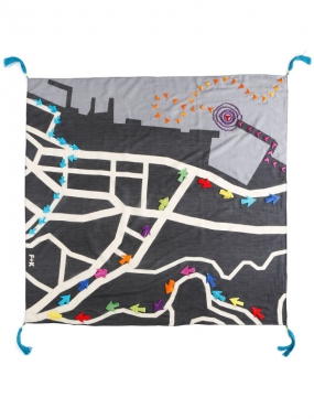 Image of Paschbeck Fummel + Kram's Scarf 'City Map Hong kong'