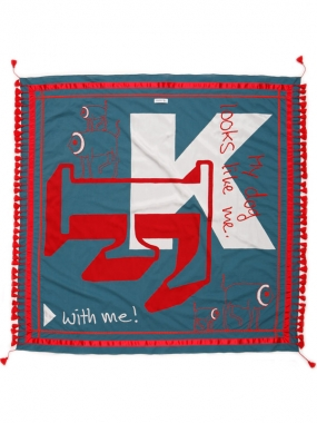 Image of Paschbeck Fummel + Kram's  Scarf 'My Dog' in Petrol