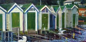 Russell Jackson Orakei Basin Shag painting