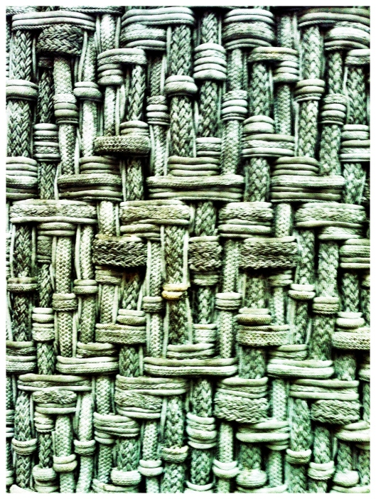 Close up image of Dani Marti's rope wall