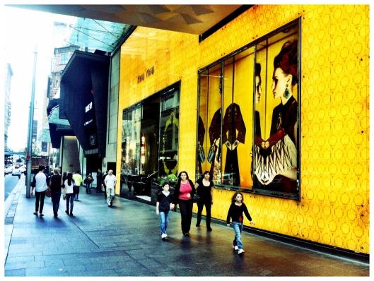 Miu Miu Store Facade - Market Street, Sydney