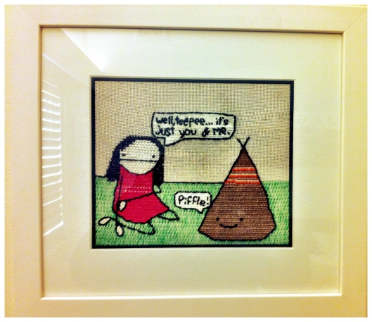 Tepee Embroidery by This Sydney Life Based on NatalieDee Cartoon