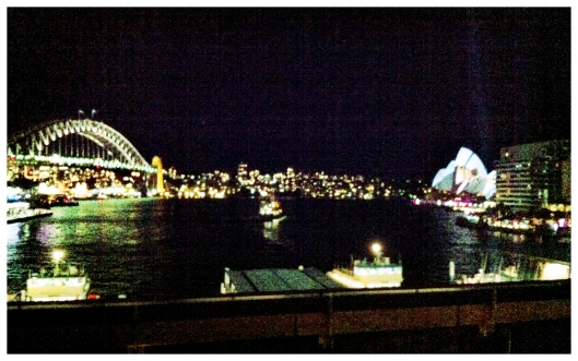 Image of Sydney Harbour Bridge & Opera House from Cahill Express Way