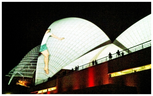 Light Installation on the Sydney Opera House for the Vivid Festival 2012