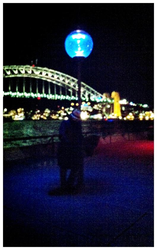 Blue Lamp Post & Sydney Harbour Bridge