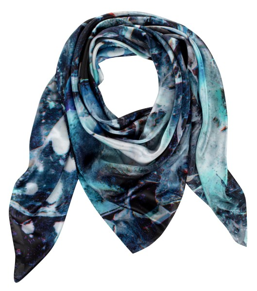 Image of Elestial Quartz Weston Silk Scarf (Draped)