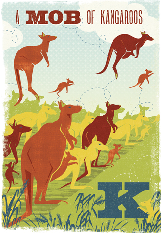 Image of Woop Studio's 'Mob of Kangaroos'