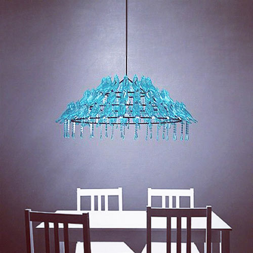 Bird Poop Chandelier by Wyatt Little