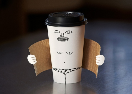 'Exhibitionist Coffee Cup' by Brock Davis