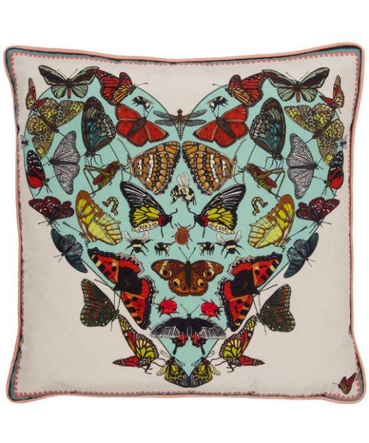 Butterflies Beasticles Silk Cushion by Silken Favours