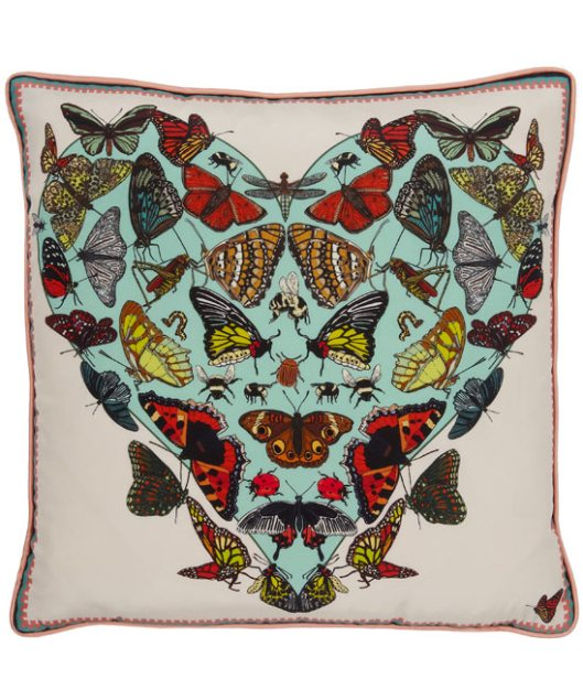 Butterflies Beasticles Silk Cushion by Silken Favours
