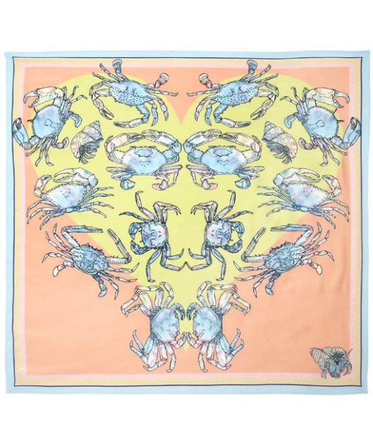 Kaleidoscopic Crustacean Silk Scarf by Silken Favours