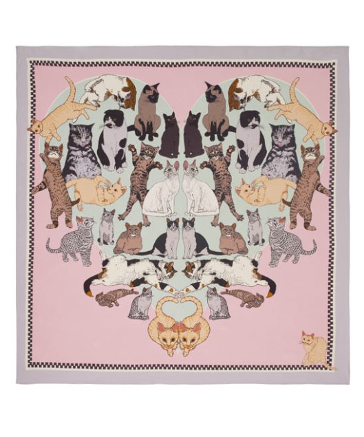 Precious Pussies Silk Scarf by Silken Favours