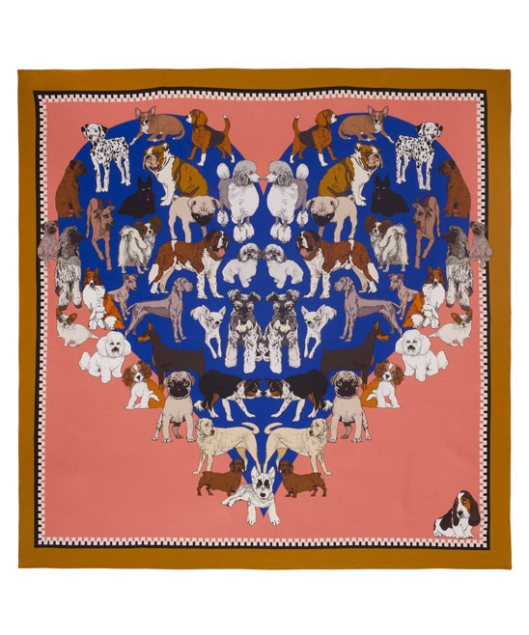 Puppy Passions Silk Scarf by Silken Favours