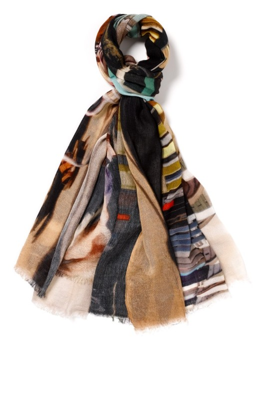 'Beach Huts' scarf by Lily and Lionel