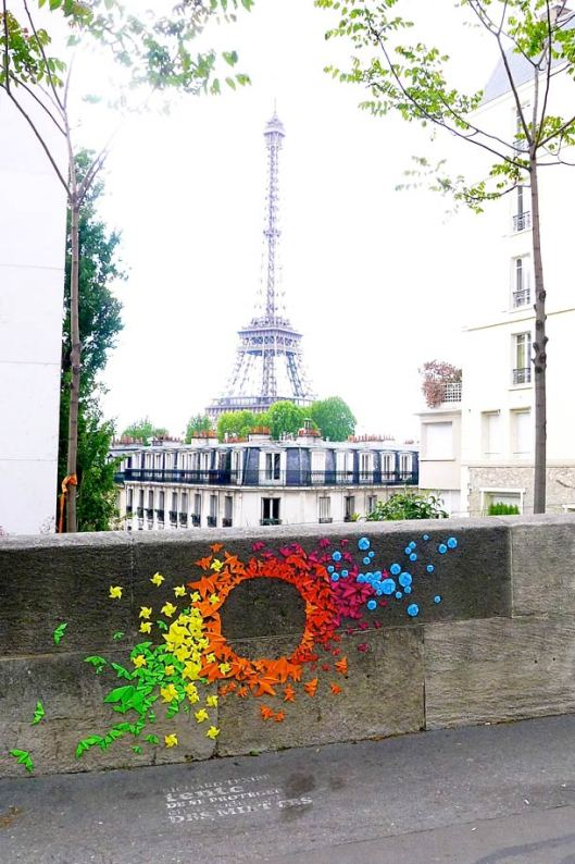 Image of Origami Street Art by Mademoiselle Maurice