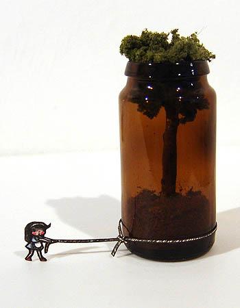 'Bottle A Tree + Girl' by Mylyn Nguyen