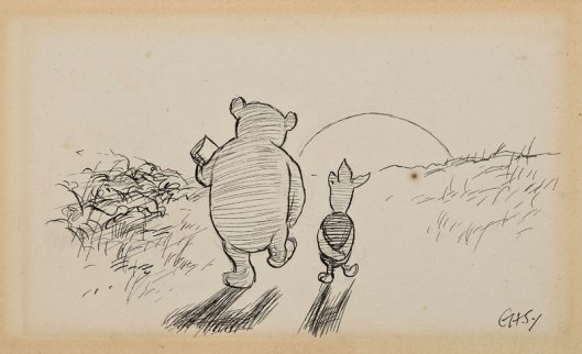 Into The Sunset With Pooh and Piglet by E.H. Shepard