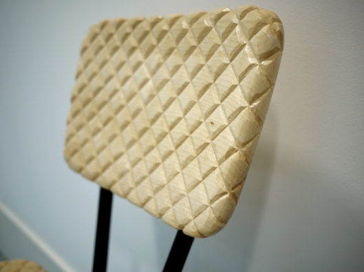 Detail of Soft Wood Chair by Veronika Wildgruber