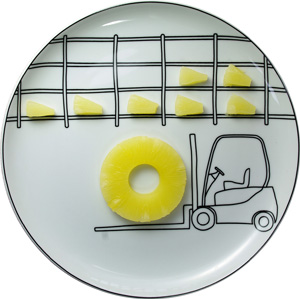 Transportation Ceramic Plate by Boguslaw Sliwinski