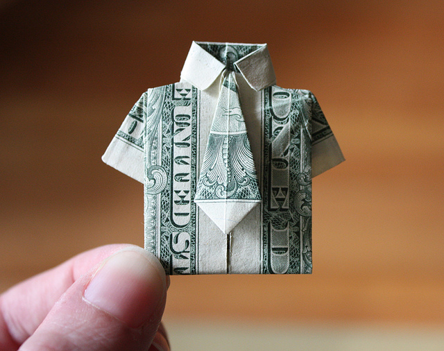 Origami Bow Tie From Dollar Bill Psychologyarticlesfo